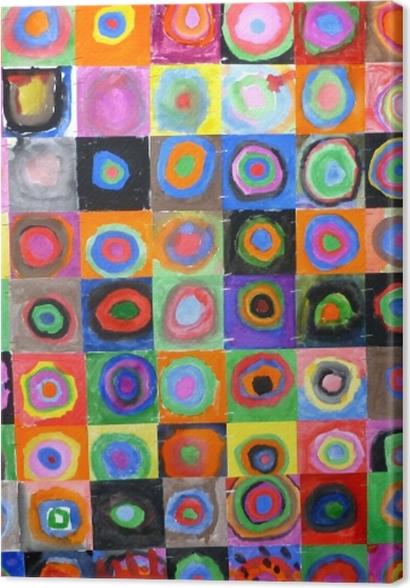 Tableaux premium Vassily Kandinsky - Carrés et cercles concentriques - Reproductions