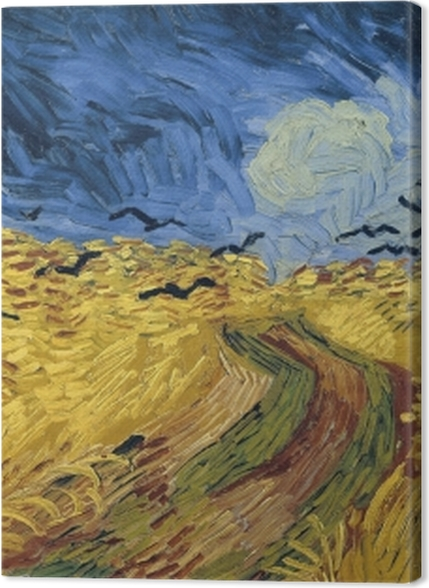 Tableaux premium Vincent van Gogh - Champ de blé aux corbeaux - Reproductions