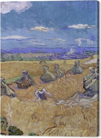 Tableaux premium Vincent van Gogh - Champ de blé avec Reaper - Reproductions