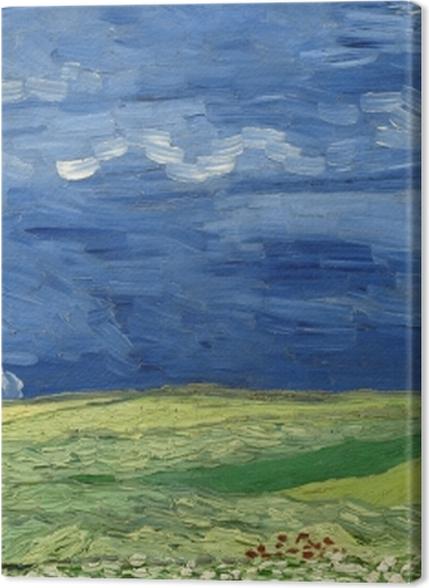 Tableaux premium Vincent van Gogh - Champ de blé sous un ciel orageux - Reproductions