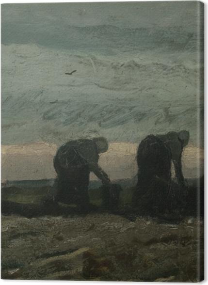 Tableaux premium Vincent van Gogh - Deux Paysannes ramassant la tourbe - Reproductions