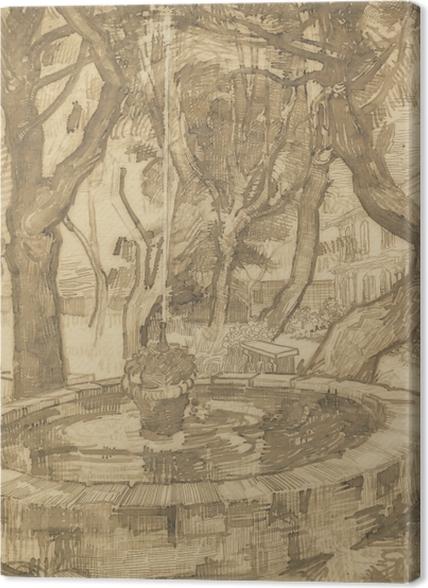 Tableaux premium Vincent van Gogh - Fontaine dans le jardin de l'asile - Reproductions