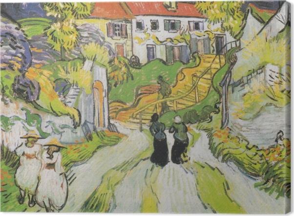 Tableaux premium Vincent van Gogh - L'escalier d'Auvers - Reproductions