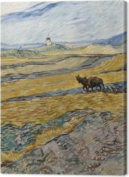 Tableaux premium Vincent van Gogh - Laboureur dans un champ - Reproductions