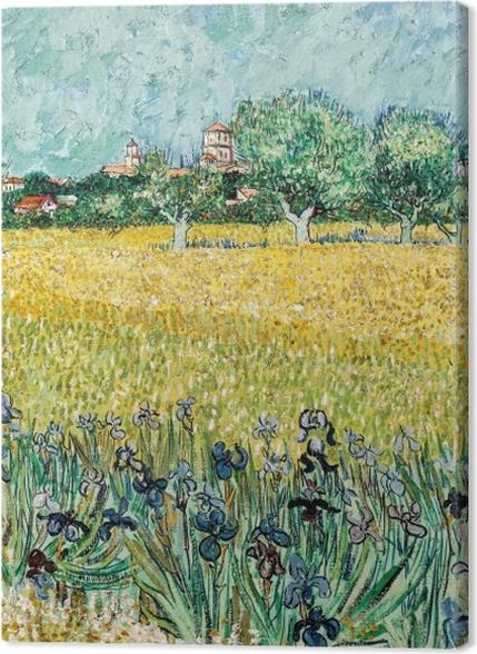 Tableaux premium Vincent van Gogh - Le Champ de blé aux iris - Reproductions