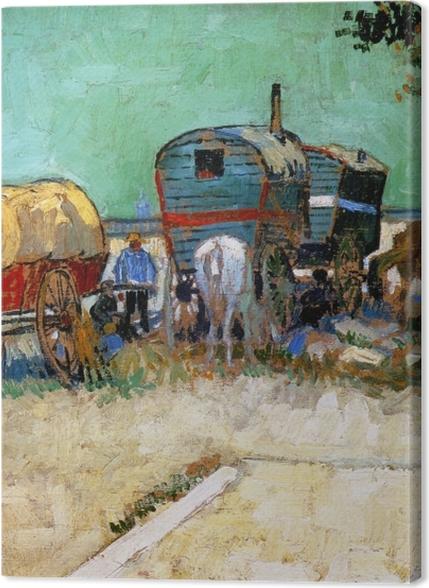 Tableaux premium Vincent van Gogh - Les roulottes, campement de bohémiens - Reproductions