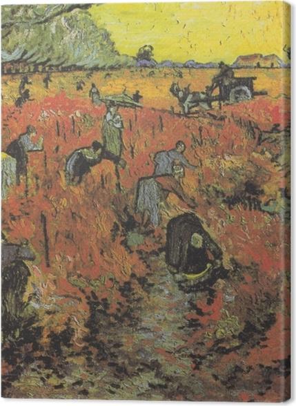 Tableaux premium Vincent van Gogh - Les vignes rouges d'Arles - Reproductions
