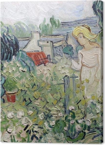 Tableaux premium Vincent van Gogh - Mademoiselle Gachet dans son jardin à Auvers - Reproductions