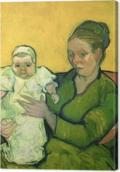 Tableaux premium Vincent van Gogh - Mme Roulin avec son enfant Marcelle - Reproductions