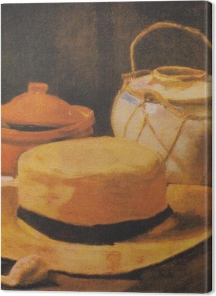 Tableaux premium Vincent van Gogh - Nature morte avec chapeau de paille jaune - Reproductions