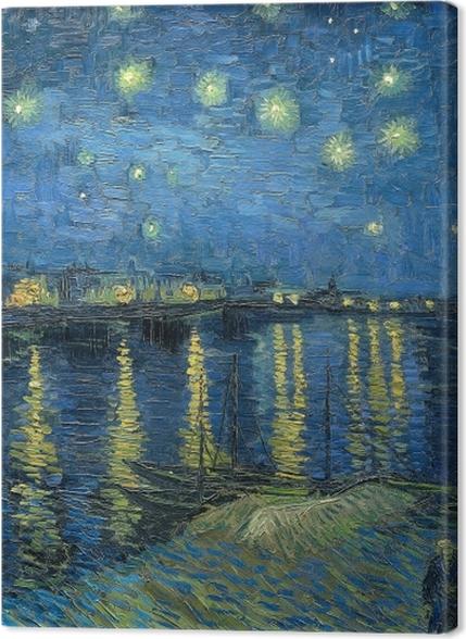 Tableaux premium Vincent van Gogh - Nuit étoilée sur le Rhône - Reproductions
