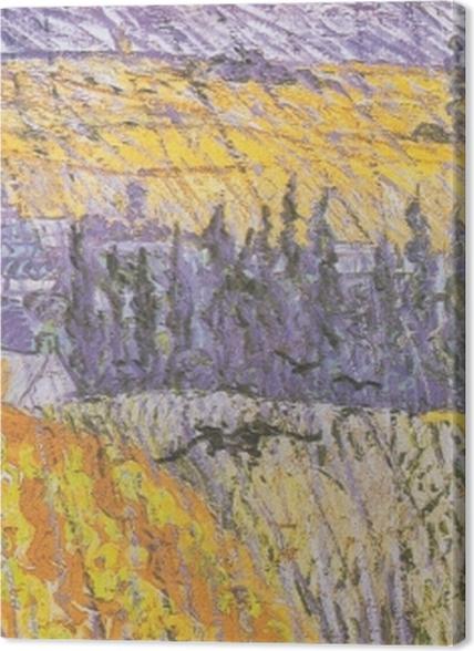 Tableaux premium Vincent van Gogh - Rain-Auvers - Reproductions