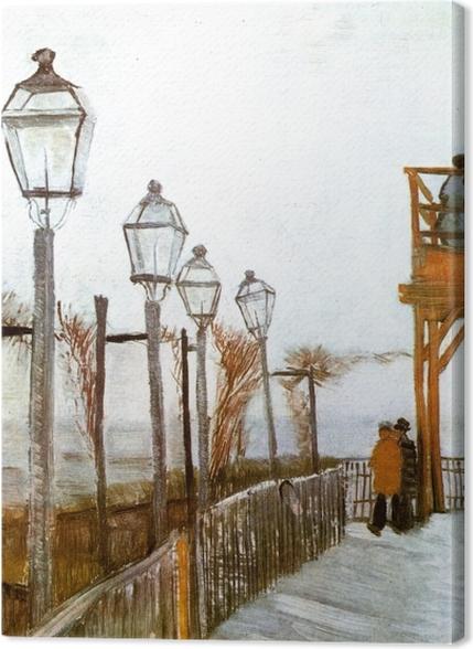 Tableaux premium Vincent van Gogh - Terrasse et Observation Deck au Moulin de Blute-Fin, Montmartre - Reproductions