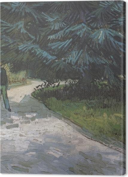 Tableaux premium Vincent van Gogh - Un couple dans le parc avec des sapins bleus - Reproductions