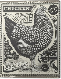 Tableaux premium Vintage Poultry and Eggs Advertising Page