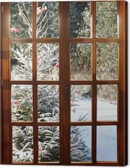 Tableaux premium Weichnachten im Schnee