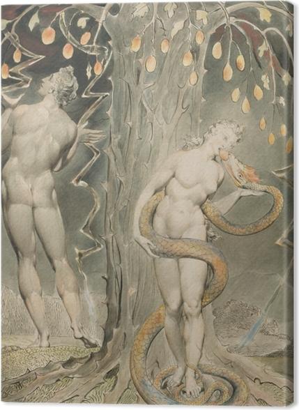 Tableaux premium William Blake - La Tentation d'Ève - Reproductions