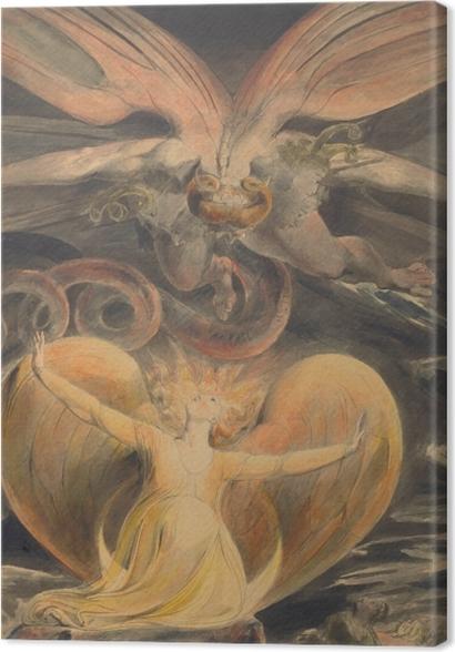 Tableaux premium William Blake - Le grand Dragon Rouge et la Femme vêtue de soleil - Reproductions
