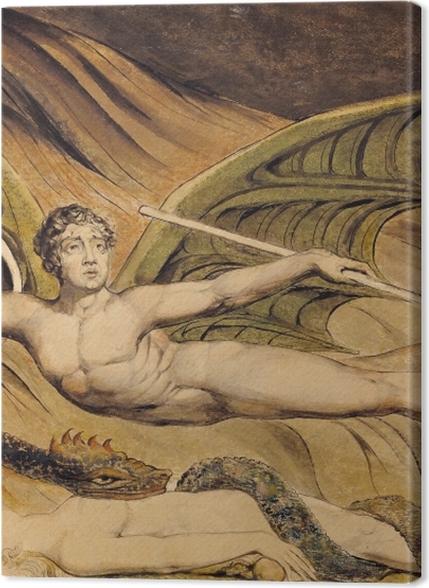 Tableaux premium William Blake - Satan exultant sur Eve - Reproductions