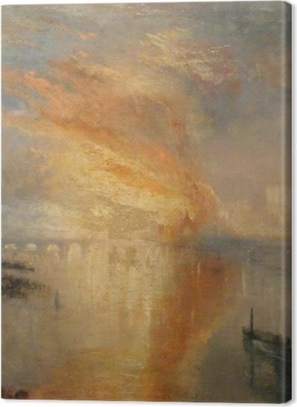 Tableaux premium William Turner - L'Incendie de la Chambre des Lords et des Communes, le 16 octobre 1834, - Reproductions