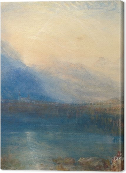 Tableaux premium William Turner - Le lac de Zoug, tôt le matin - Reproductions