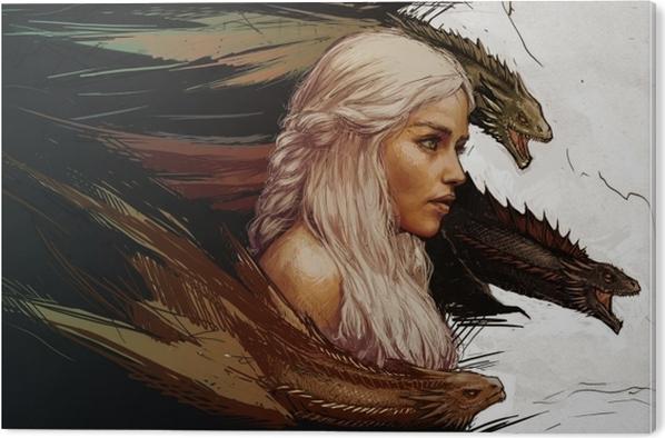 Tableau PVC Daenerys Targaryen - Thèmes