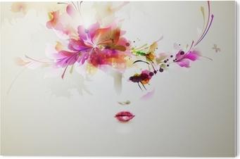 Tableau PVC Femmes de la mode avec de beaux éléments de conception abstraite