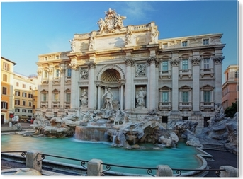 Tableau PVC Fontaine de Trevi. Rome, Italie