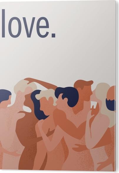 Tableau PVC Love. -