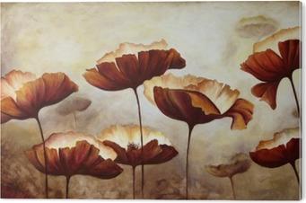 Tableau PVC Peinture coquelicots toile