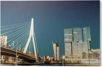 Tableau PVC Rotterdam skyline de Pont Erasmus