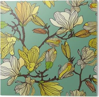 Tableau PVC Seamless floral texture
