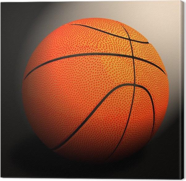 dc499101a9102 Tableau sur toile 3d basket-ball contre le noir • Pixers® - Nous ...