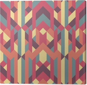 Tableau sur toile Abstract retro geometric pattern