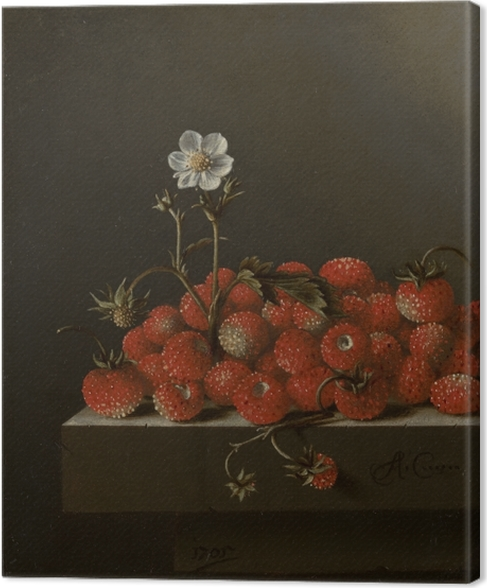 Tableau sur toile Adriaen Coorte - Still Life with Wild Strawberries - Reproductions