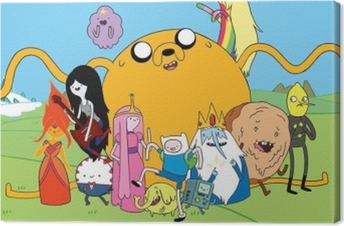 Tableau sur toile Adventure Time Finn & Jake
