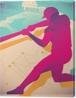 Tableau sur toile Affiche de baseball Illustré.