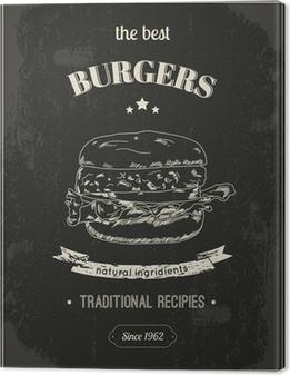 Tableau sur toile Affiche de Hamburger