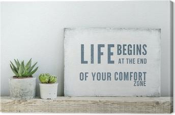 tableaux sur toile signes pixers nous vivons pour changer. Black Bedroom Furniture Sets. Home Design Ideas