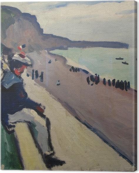 Tableau sur toile Albert Marquet - La plage de Fécamp - Reproductions