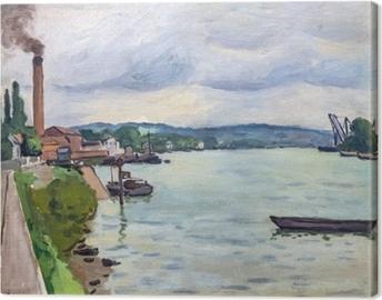 Tableau sur toile Albert Marquet - La seine (environs de Rouen)