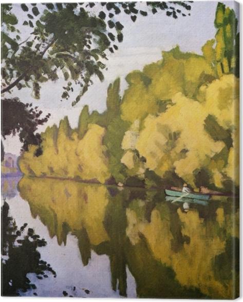 Tableau sur toile Albert Marquet - La Varenne Saint- Hilaire, la barque - Reproductions
