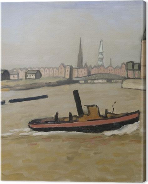 Tableau sur toile Albert Marquet - Le port de Hambourg - Reproductions