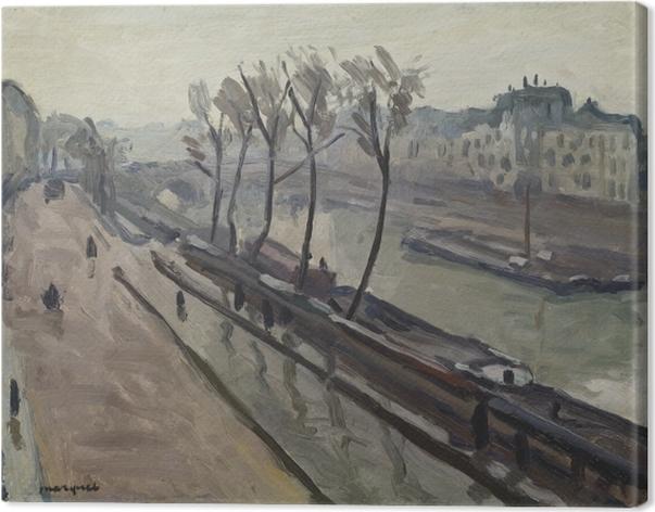 Tableau sur toile Albert Marquet - Le quai des Grands-Augustins sous la pluie - Reproductions