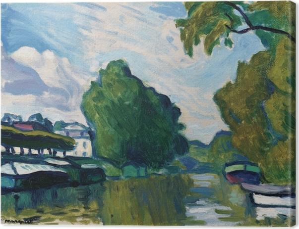 Tableau sur toile Albert Marquet - Poissy, Bords de Seine - Reproductions