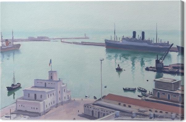 Tableau sur toile Albert Marquet - Port d'Alger (La Douane ou l'Amirauté) - Reproductions