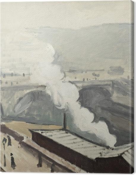 Tableau sur toile Albert Marquet - Quai Saint-Michel avec fumée - Reproductions