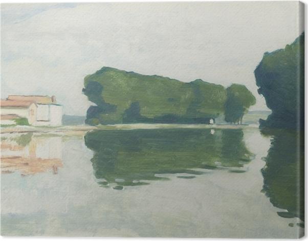 Tableau sur toile Albert Marquet - Samois, L'ile (Les Peupliers) - Reproductions