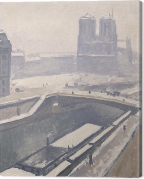 Tableau sur toile Albert Marquet - Vue de Notre-Dame - Reproductions