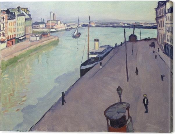 Tableau sur toile Albert Marquet - Vue du port du Havre (Le Quai de Notre Dame) - Reproductions